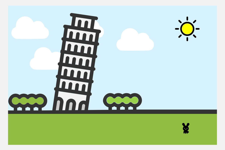 compositie toren met konijntje
